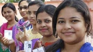 Eighteen million people between the ages of 18 and 23 were expected to cast their first vote in the 2019 national election.(HTPhoto)