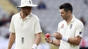 File image of Stuart Broad and James Anderson.(AP)
