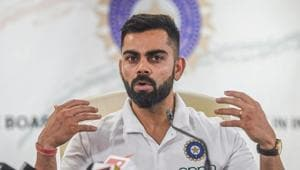 Indian cricket team captain Virat Kohli addresses the media ahead of team India's departure to participate in the Cricket World Cup, in Mumbai, Tuesday, May 21, 2019(PTI)