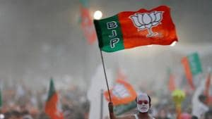 The Congress, which had given its best performance since 1995 by winning 77 seats in the assembly elections, was trailing by huge margins in most of the Lok Sabha constituencies.(REUTERS)