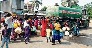 The residents alleged that the water crisis is the outcome of stalled projects that failed to receive a push from the Panvel City Municipal Corporation (PCMC).(HT FILE/Pic for representation)
