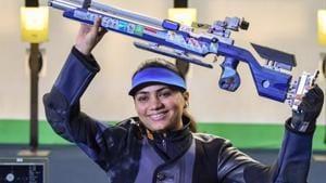 File image of Indian shooter Apurvi Chandela.(PTI)