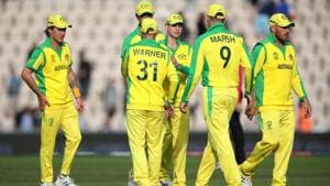 Australia's David Warner and Steve Smith with team mates after the match(Action Images via Reuters)