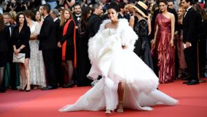 How Aishwarya gave a unique twist to her red carpet look
