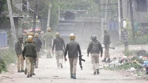 A gunfight broke out between the security forces and militants in Jammu and Kashmir's Shopian district on Friday.(Waseem Andrabi /HT File Photo)