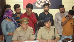 The 15 members were booked under the Indian Penal Code sections for criminal breach of trust and cheating at Indirapuram police station.(HT Photo/Sakib Ali)