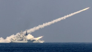 On Sunday, footage circulated on China's Weibo microblogging service of an object travelling up into the sky, leaving a white trail behind it, over the Bohai Sea, partly closed at the time for military drills.(Reuters FILE/ Representative Image)