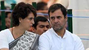 New Delhi, May 21 (ANI): Congress party president Rahul Gandhi (L) with his sister and AICC General Secretary Priyanka Gandhi pay tribute to their late father during a memorial ceremony for slain former Indian prime minister Rajiv Gandhi on his 28th death anniversary in New Delhi on Tuesday. (ANI PHOTO/R RAVEENDRAN)(ANI File Photo)
