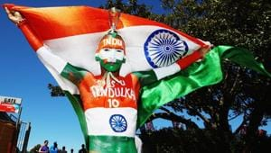 Sudhir Gautam perhaps best personifies Indian fandom. The body-painted, Tricolour-waving fanatic has become famous in his own right.(iStock)