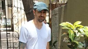 Imran Khan spotted outside his gym in Mumbai on Wednesday.(Varinder Chawla)