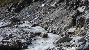 Mandakini river flowing near Kedarnath in Rudraprayg district(HT File photo)