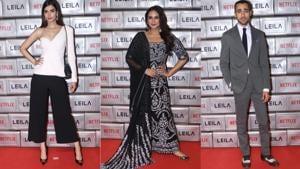 Diana Penty, Huma Qureshi and Imran Khan at Leila premiere.(Varinder Chawla)