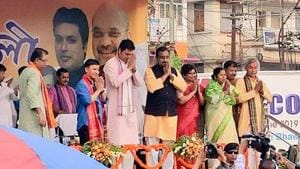 Ram Madhav further claimed that the BJP would break the record of Congress party's rule in the Centre and emerge as the longest serving party in power in the Centre in future.(Biplab Deb/Twitter)