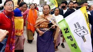 NPP is the largest party in Meghalaya with 20 MLAs in the state assembly. It has four MLAs in Manipur, and three in Nagaland. All these states have 60-member assemblies.(PTI Photo)