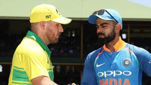 File image of India skipper Virat Kohli and his Australian counterpart Aaron Finch(Getty Images)