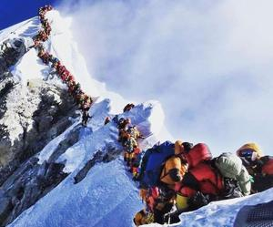 Despite traffic on Mount Everest, they conquered the peak