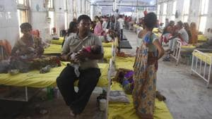 Encephalitis is a viral infection which causes mild flu-like symptoms such as fever and headache.(Parwaz Khan/HT PHOTO)