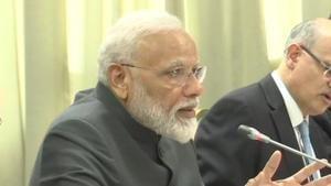 PM Modi and Russian President Vladimir Putin hold delegation level talks(ANI/Twitter)