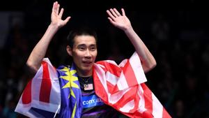 In this file photo taken on March 12, 2017, Malaysia's Lee Chong Wei celebrates his victory over China's Lin Dan.(AFP)