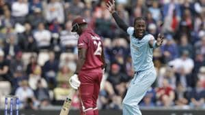 ICCWorld Cup 2019: West indies' Carlos Brathwaite reprimanded for showing dissent