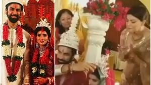 Sushmita Sen reacts as Rajeev Sen and Charu Asopa get married.(Instagram)