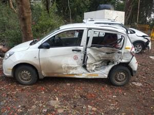 When the car reached WEH, towards Andheri, the speeding SUV came from the adjacent SIBA road and crashed into the car on its left side.