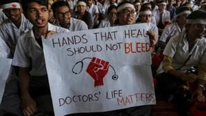 The violence broke out a day after the culmination of a week-long protest across the country against assault on doctors and medical staff by angry relatives.(REUTERS photo)