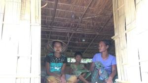 In November 2017, as fighting raged between the Arakan Army and the Myanmar military, 1500 Rakhine Buddhist refugees crossed over to Mizoram. (Sadiq Naqvi/HT photos)