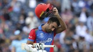 Afghanistan's Hashmatullah Shahidi leaves the field after being dismissed during the Cricket World Cup match between England and Afghanistan at Old Trafford in Manchester, England, Tuesday, June 18, 2019.(AP)