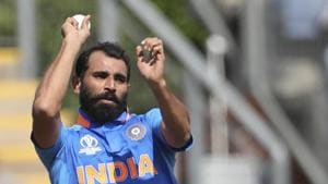Cardiff: India's Mohammed Shami bowls a delivery during the Cricket World Cup warm up match between Bangladesh and India at Sophia Gardens in Cardiff, England, Tuesday, May 28, 2019. AP/PTI Photo(AP5_28_2019_000121B)(AP)