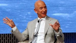 Earlier in May, Bezos unveiled a new Moon-lander called 'Blue Moon' along with a smaller rover and spoke about his plans of getting to the Moon by 2024.(REUTERS)