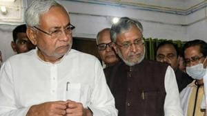 Bihar CM Nitish Kumar cancelled his aerial inspection of heatwave affected areas and will now visit Anugrah Narayan Magadh Medical College in Gaya today to meet patients.(HT Photo/Santosh Kumar)