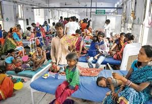 The superintendent said that there are 14 children under observation, whose condition is critical.(HT Photo)