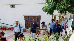 During the searches, a rifle, cartridges, Rs 29 lakh in cash, four laptops, five hard disks, 12 pen drives, a computer, 12 mobile phones, documents and bank details were seized, the release said.(HT Photo)