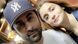 Alia Bhatt and Ranbir Kapoor pose with a fan in New York. See pic here