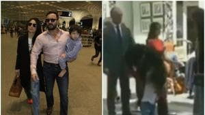 Saif Ali Khan plays with son Taimur on a busy London street during Jawaani Jaaneman's shoot. Watch video