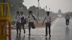 The mercury had been rising over the past one week after the effects of cyclone Vayu faded. On Saturday, the day temperature at Safdarjung was recorded to be 40.3°C, two degrees above normal. At Palam, it was 42.4°C.(HT Photo)