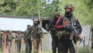 An encounter broke out between militants and security forces in Shopian district of Jammu and Kashmir Sunday, police said.(HT File Photo)