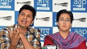 AAP leader Atishi said the seven BJP MPs in Delhi need to take responsibility.(ANI)