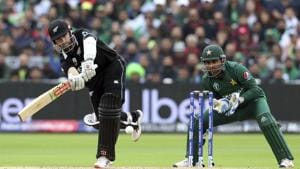 New Zealand captain Kane Williamson in action against Pakistan during the ICC World Cup.(AP)