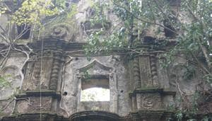 The structure in Chimbel village, on the outskirts of Goa's Panaji, began to fall into ruin after the 1880s when it was confiscated by the then Portuguese government(HT Photo)