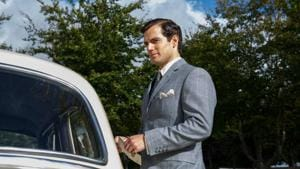 Henry Cavill in a still from The Man from UNCLE.