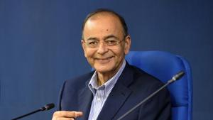 Former finance minister Arun Jaitley on Monday said with the increase in revenue the country may effectively have two rates for the Goods and Services Tax (GST).(Mohd Zakir/HT PHOTO)