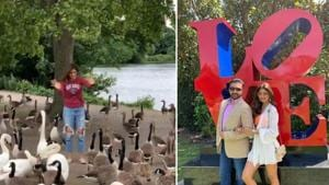 Shilpa Shetty says feeding ducks has become an annual summer ritual for her son and her.(Instagram)