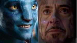 Stills from James Cameron's Avatar and Marvel's Avengers Endgame.