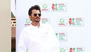 Anil Kapoor during a promotional programme in Mumbai.(IANS)