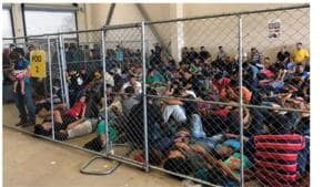 Conditions at the centers have been a flashpoint since May when the watchdog warned of similar conditions at facilities in the El Paso, Texas sector, west of the Rio Grande Valley, with migrants held for weeks instead of days, and adults kept in cells with standing room only.(AFP)