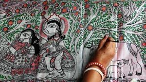 Madhubani painting of Bihar(AFP)