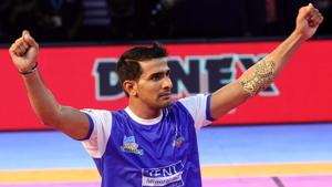 Surender Nada is undergoing an injury at the moment.(Pro Kabaddi League)