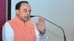 Chhattisgarh police registered a case on Saturday against BJP MP Subramanian Swamy for allegedly insulting Rahul Gandhi.(Sameer Sehgal/HT File Photo)
